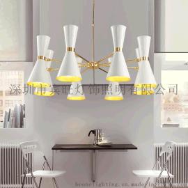 后现代简约大气客厅灯 个性创意餐厅卧室展厅铁艺黑白色装饰吊灯
