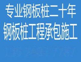 湘潭钢板桩施工公司,堤岸改造支护方案,深基坑支护围堰工程报价