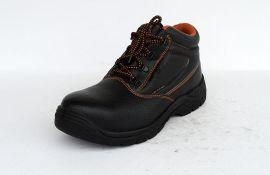 新款压花牛皮PU注塑劳保鞋WXHC-P007