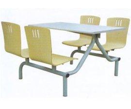 学校工厂食堂不锈钢餐桌椅 快餐店连体餐桌椅组合批发