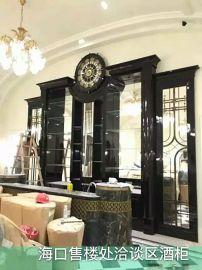 广东木饰面板厂家供货中海地产海口售楼中心木饰面工程案例