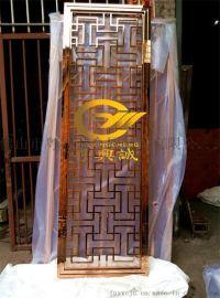 定制镜面玫瑰金不锈钢屏风 金属隔断 铝雕 厂家直销全国各地