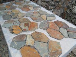 恒瑞石材供应锈色网贴石   锈色板岩