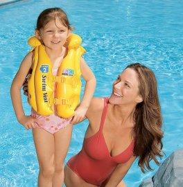 救生衣 兒童救生衣,充氣遊泳衣,遊泳背心兒童初學遊泳裝備