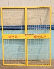 建筑工地楼层升降机安全门,施工升降机楼层安全门,施工电梯门特殊规格可定做
