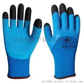 星宇A755/A733防寒加厚毛圈拉絨加強指耐磨半掛冬季保暖勞保手套