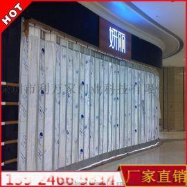 商场透明防盗门 水晶折叠门 水晶卷帘 直条透视卷闸门