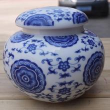 青花瓷陶瓷茶叶罐