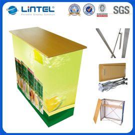 经济型铝合金折叠拉网促销台,超市试吃展示桌,商场折叠促销桌