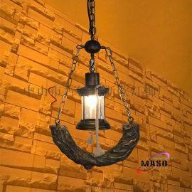 供應瑪斯歐美式復古自然鄉村樹脂吊燈MS-P9001 馬燈單頭鐵鏈可調節 適用餐廳吧臺燈餐飲復古風格裝修