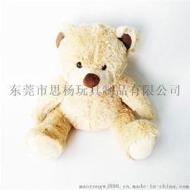 供應泰迪熊動物毛絨玩具 生產廠家專業看圖開版OEM加工定制