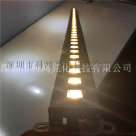 led线性洗墙灯 贴片线条灯户外防水硬灯条七彩洗墙灯专业厂家