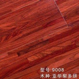 厂家直销榆木浮雕木地板 大板锁扣多层实木复合地板