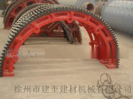 销轴式对开型2.2米外齿滚筒铸钢复合肥造粒机大齿轮烘干机齿圈