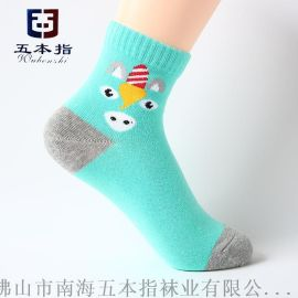 襪廠批發純棉卡通彩色兒童襪 代工貼牌外貿襪子