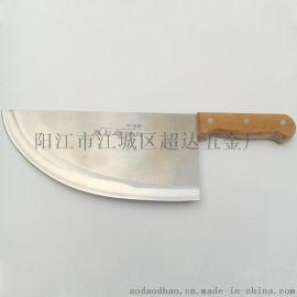 厂家供应特制杀猪刀 屠宰刀 前切后剁猪肉刀(大号)