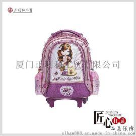 一件代發韓版兒童書包可愛女生拉杆書包芭比