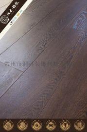 商用倒角同步对花复合木地板