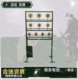 深圳军博气炮枪射击靶牌 枪靶 三层自动复位靶牌