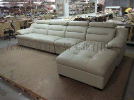 简约客厅L型组合沙发真皮沙发 头层黄牛皮沙发 现代客厅沙发A012