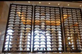 拼接拉丝古铜酒店不锈钢屏风