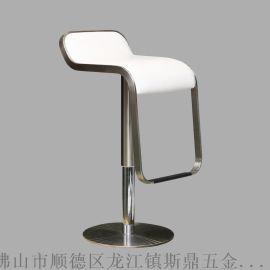 斯鼎S093酒吧家居用不锈钢吧椅 升降椅高脚凳 现代酒吧椅定制