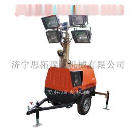 能升高7米的拖车式照明车  柴油型拖车式应急施工照明车出口东南亚
