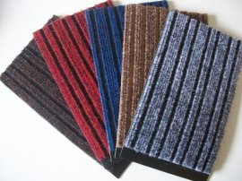進門除塵墊 門口防滑墊 雙色三五條紋刮砂儲塵墊(P4000)