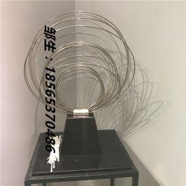 广州文化创意抽象不锈钢雕塑桌面艺术抛光摆件定做厂家