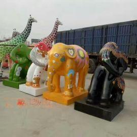 现货玻璃钢雕塑,定做玻璃钢动物雕塑厂家
