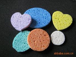 供應 烙鐵頭清潔木漿海綿 吸水清潔海綿 藍色圓形海綿直徑40MM