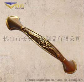长庚CG-101欧式带花双孔铜拉手