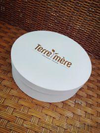 精美烫金白色典雅圆盒
