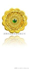 中秋节定制薄片黄金月饼工艺礼品