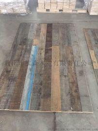 纯旧木地板 船甲板 旧家具老木料 自然风化松木硬杂木复合地板