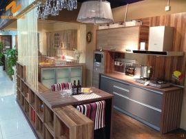 上海偉詢黃褐色3D木紋紋理進口雙飾面櫥櫃門板T-6152