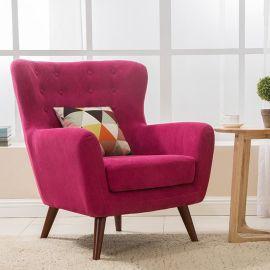 單人沙發小戶型歐式田園休閒客廳布藝沙發現代簡約北歐宜家