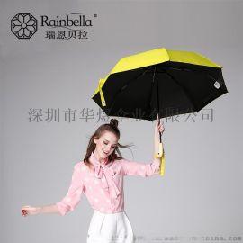 批发创意AA鸭头伞三折女士遮阳伞 迷你太阳伞防紫外线阳伞折叠伞