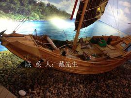 木船廠家出售批發鄭和寶船模型木質福船