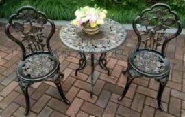 别墅小区户外铸铝桌椅 高贵铸铝桌椅 步行街铸铝桌椅图片