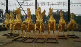 动物订做 飞马雕塑 阿波罗战车雕像 玻璃钢雕塑 西方人物雕塑