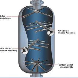 广兴专注德国品质不锈钢进碱装置 楔形丝绕丝管 排液装置  丝管丝柱