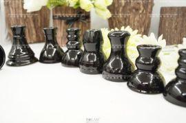 黑色陶瓷水烟锅 Black shisha