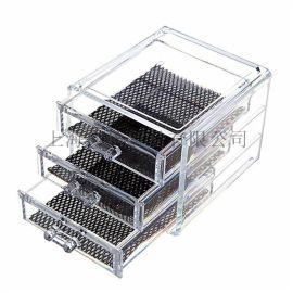 亚马逊热销 亚克力化妆品收纳盒 抽屉式桌面化妆盒透明储物盒