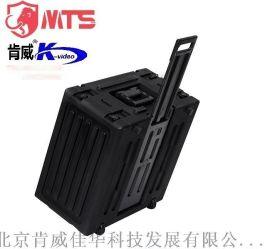 马特斯防护箱6U导播台航空箱机柜 自带拉杆滚轮的便携箱安全箱