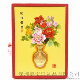 花开富贵金箔摆件 婚庆摆件金花瓶套装四季平安装饰礼品