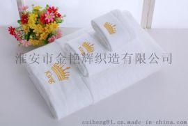 酒店浴巾白纯棉加大厚吸水成人美容院浴巾宾馆大毛巾定制LOGO绣字