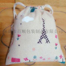 工廠定制 麻布袋抽繩束口袋  大米收納袋 防塵布袋子
