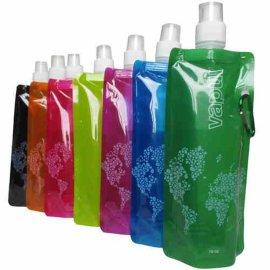 pvc便携折叠户外水袋骑行运动水囊水壶水杯登山饮水旅行储水袋软