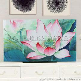 挂式电视机罩防尘罩布中式55寸韩版电视盖布帘简约曲面电视套液晶